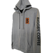 B Icon with Sleeve Print - Young Mens Lightweight Jersey Full Zip Hoodie