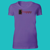 B happy Glitter Flake - org let - Ladies' The Favorite-slim feminine fit