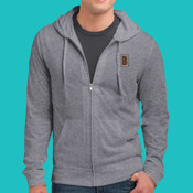 Embroidered DT1100 Jersey - Young Mens Lightweight Jersey Full Zip Hoodie